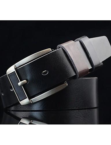 Men's Vintage Casual Alloy Waist Belt - Solid Colored