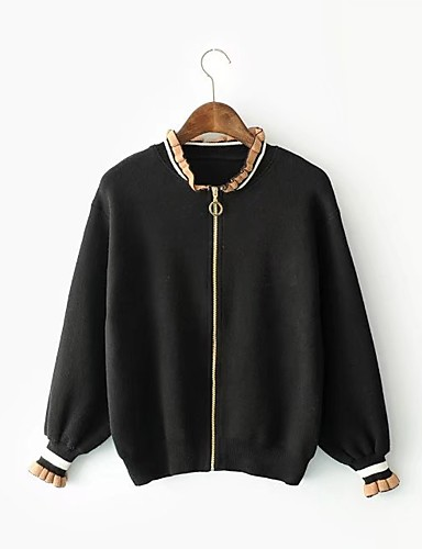 Women's Daily Street chic Spring Fall Jacket