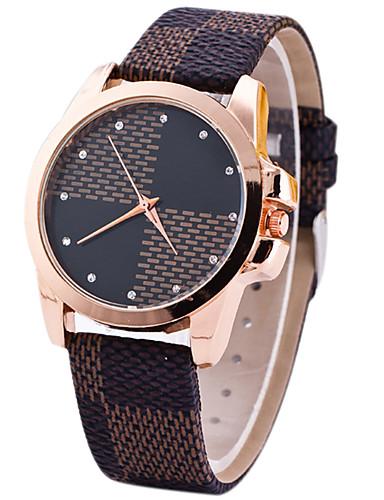 Women's Wrist watch Unique Creative Watch Casual Watch Sport Watch Fashion Watch Quartz Leather Band Luxury Creative Casual Elegant Brown