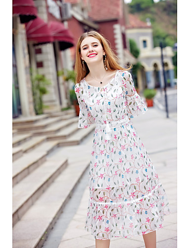 Women's Going out Daily Cute Chiffon Dress
