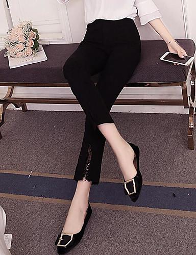 Women's Slim Wide Leg Pants - Solid High Waist