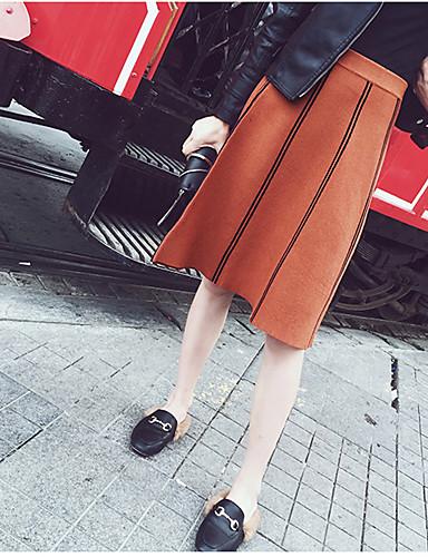 Women's Daily Knee-length Skirts