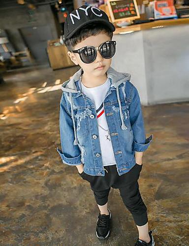 Jungen Jacke & Mantel Solide Verziert Sonstiges Blau