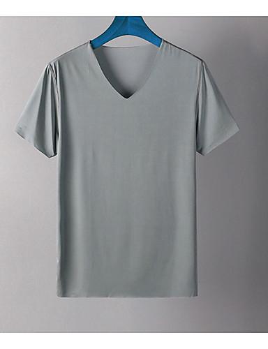 Men's Simple Cotton T-shirt Jacquard / Print Round Neck / Short Sleeve