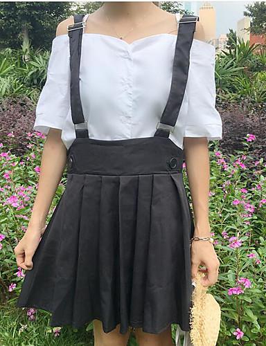 Damen Solide Einfach Lässig/Alltäglich Shirt Rock Anzüge,Bateau Sommer ½ Ärmel