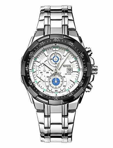 Férfi Sportos óra Kínai Naptár / Vízálló / Kreatív Rozsdamentes acél Zenekar Alkalmi / Egyedi kreatív óra / elegáns Ezüst