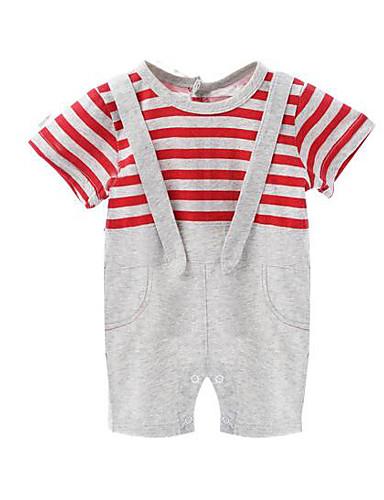 Baby Einzelteil Streifen Baumwolle Winter Sommer Rote