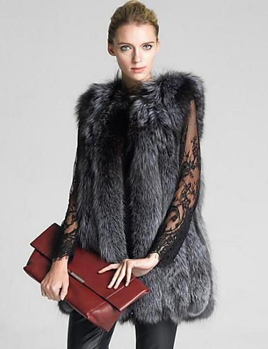 Women's Faux Fur Vest - Solid Colored