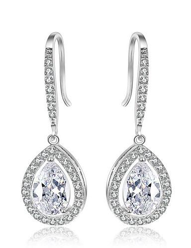 4960695840f21 Women s Diamond Cubic Zirconia tiny diamond Drop Earrings Zircon Earrings  Drop Ladies Fashion Bling Bling Jewelry Silver   Rose Gold For Wedding