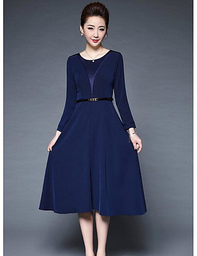 YBKCP Women's Sheath Dress - Solid Colored, Print