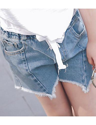 Mädchen Shorts einfarbig Baumwolle Polyester Sommer