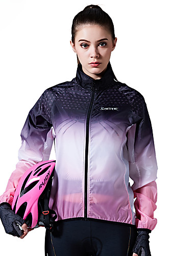 cheap Cycling Clothing-SANTIC Women's Cycling Jacket Bike Top Windproof Sports Violet Mountain Bike MTB Road Bike Cycling Clothing Apparel Advanced Relaxed Fit Bike Wear