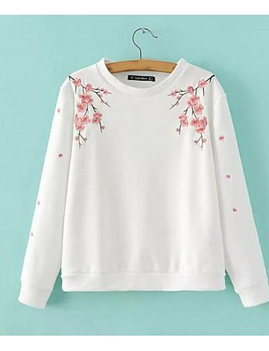 Damen Pullover Ausgehen Buchstabe Rundhalsausschnitt Mikro-elastisch Andere Lange Ärmel Herbst Frühling