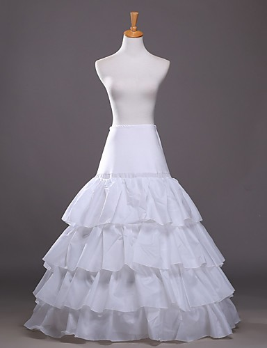 Wedding / Party & Evening Slips Taffeta Floor-length A-Line Slip / Ball Gown Slip with