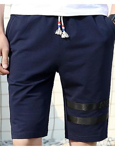 Herren Street Schick Mittlere Hüfthöhe Mikro-elastisch Kurze Hosen Lose Hose