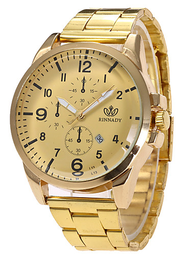 Damen Quartz Armbanduhr Militäruhr Sportuhr Kalender Edelstahl Band Charme Luxus Retro Kreativ Freizeit Einzigartige kreative Uhr Elegant