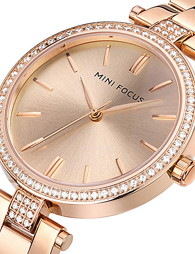 Women's Wrist Watch Creative / Casual Watch / Cool Stainless Steel Band Charm / Luxury / Casual Silver / Gold / Rose Gold / Two Years / Maxell SR626SW