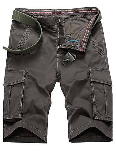 Férfi Aktív Extra méret Pamut Bő / Pamutszövet nadrág Nadrág Egyszínű