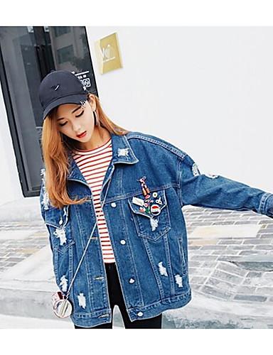 Damen Solide Einfach Lässig/Alltäglich Mantel,Ständer Frühling Lange Ärmel Standard Modal