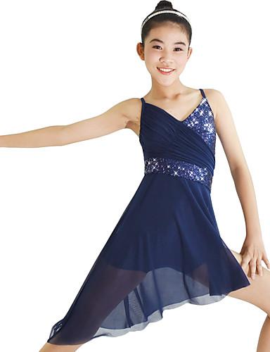 preiswerte Ballettbekleidung-Ballett Kleider Damen Leistung Elasthan / Lycra Rüschen / Pailetten Ärmellos Normal Kleid / Kopfbedeckung
