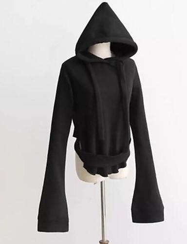 Damen Kapuzenshirt Lässig/Alltäglich Einfach Solide Mikro-elastisch Baumwolle Lange Ärmel Frühling Herbst