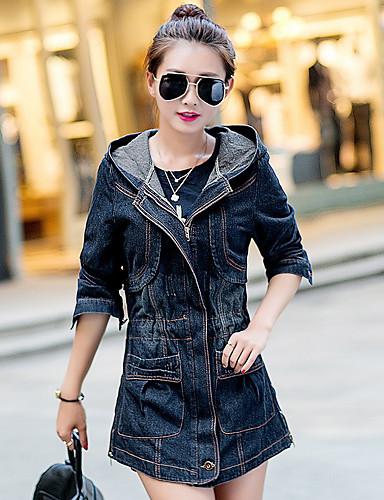 Alap Női Traper jakne - Egyszínű Pamut