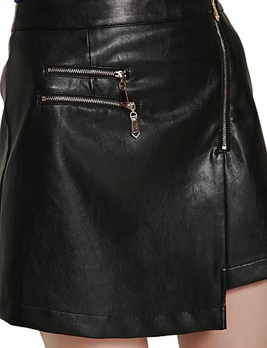 Damen Einfach Arbeit Ausgehen Lässig/Alltäglich Über dem Knie Röcke A-Linie einfarbig Herbst Winter