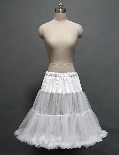 Esküvő Lánybúcsú Party és Estélyi Slipek Poliészter Tüll Térdig érő A-vonalú alsószoknya Estélyi ruha alsószoknya val vel