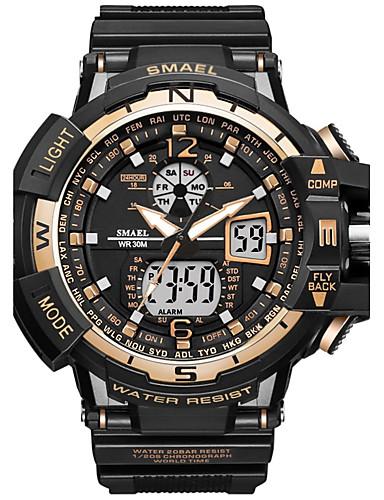 09c658654dbb6 رخيصةأون ساعات رقمية-SMAEL رجالي ساعة رياضية ساعة رقمية ياباني كوارتز رقمي  جلد اصطناعي سيليكون