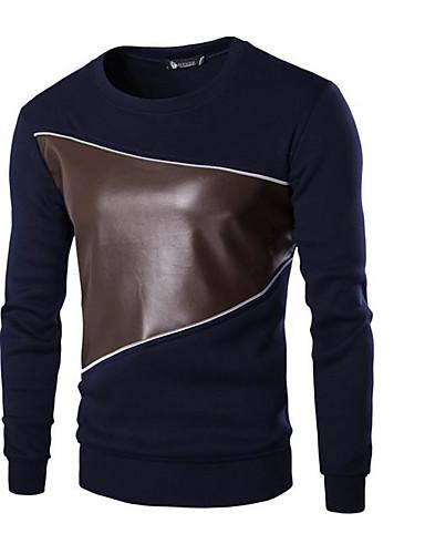 Herren Pullover Ausgehen Solide Gestreift Druck Hemdkragen Mikro-elastisch Baumwolle Acryl Polyester Langärmelige Frühling Herbst Winter