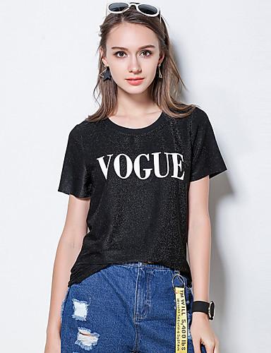 Damen Druck Einfach Ausgehen T-shirt,Rundhalsausschnitt Sommer Kurzarm Baumwolle
