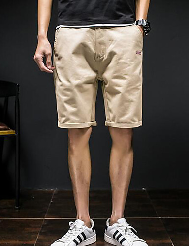Herren Einfach Mittlere Hüfthöhe Mikro-elastisch Schlank Chinos Schlank Chinos Hose Solide