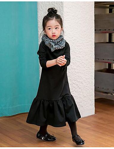 Mädchen Kleid einfarbig Baumwolle