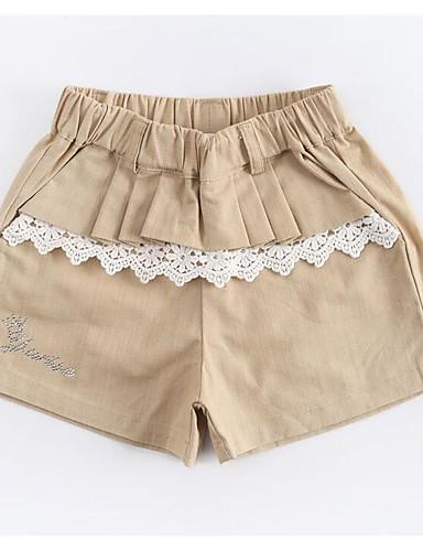 Mädchen Shorts einfarbig Baumwolle Sommer