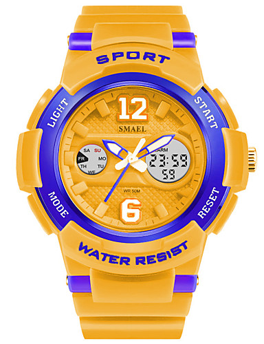 SMAEL Men's Sport Watch Chinese Hot Sale PU Band Charm White / Blue / Orange