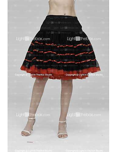 Slips Tulle Knee-Length Skirt with Ribbon Tie