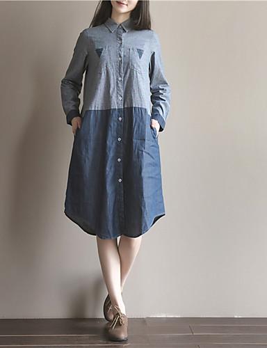 207ab0e42b Women s Daily Casual Loose Denim Dress