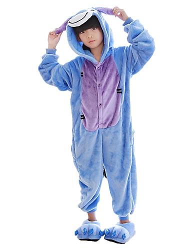 7f3993704c1 Παιδικά Πιτζάμα Kigurumi Γάιδαρος Πιτζάμα Onesie Flanel Μπλε Cosplay Για  Αγόρια και κορίτσια ζώο Πυτζάμες Κινούμενα σχέδια Γιορτές / Διακοπές  Κοστούμια