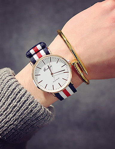 Women's Wrist Watch Quartz Nylon Band Analog Luxury Vintage Casual Black / Brown - Pink White / Red Navy / Red / White