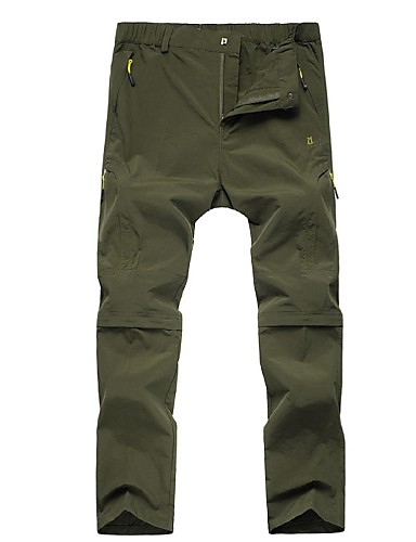 d46fb9015cd Men s Hiking Pants Outdoor Lightweight Fast Dry Quick Dry Pants   Trousers  Convertible Pants Hunting Fishing Hiking Dark Grey Army Green Khaki XXL  XXXL 4XL ...