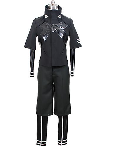 povoljno Anime kostimi-Inspirirana Tokio Ghoul Ken Kaneki Anime Cosplay nošnje Japanski Cosplay Suits Jedna barva Kaput / Hula-hopke / Onesie / Hlače Za Muškarci / Žene