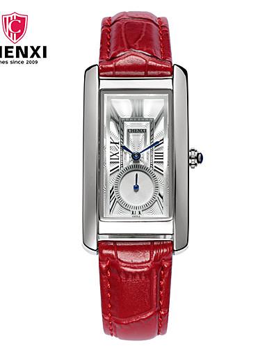 CHENXI® Női Karóra Kínai Alkalmi óra / Menő Bőr Zenekar Amulett / Alkalmi / Divat Fekete / Piros / Barna