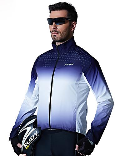 cheap Cycling Clothing-SANTIC Men's Cycling Jacket Bike Top Windproof Sports Blue Mountain Bike MTB Road Bike Cycling Clothing Apparel Advanced Relaxed Fit Bike Wear