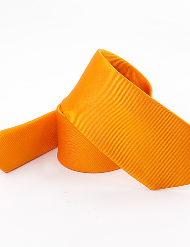 Men's Polyester Necktie - Solid Colored