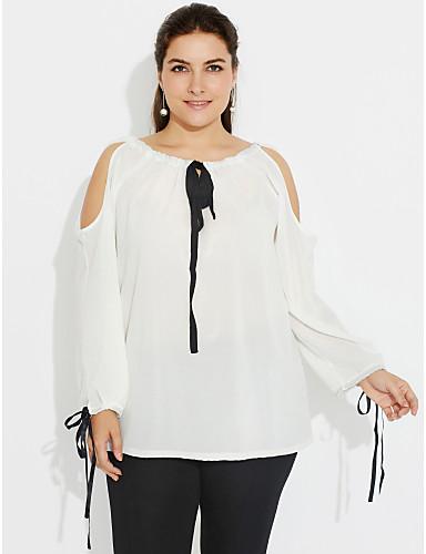 29637ef51d61 Γυναικεία Μεγάλα Μεγέθη T-shirt Αργίες   Εξόδου Κομψό στυλ street ...