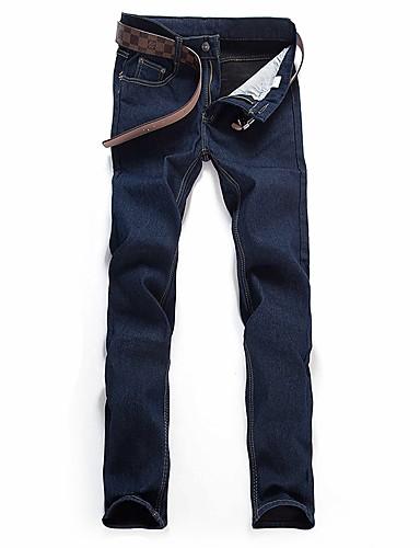 Men's Basic Slim Pants - Solid Colored