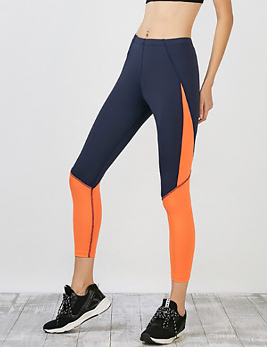 Women's Daily Sporty Legging - Color Block Mid Waist / Skinny