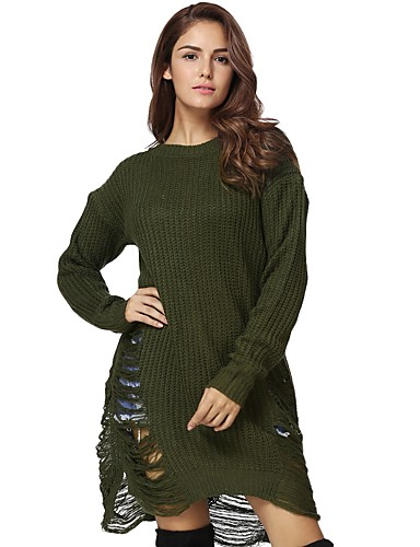 Women's Work Loose / Shift Dress - Solid Colored
