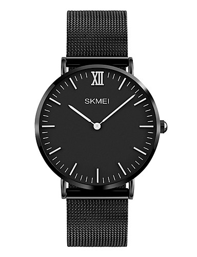 cc0231d615084 رخيصةأون ساعات حزام معدني-SKMEI رجالي ساعة المعصم ياباني كوارتز ستانلس ستيل  أسود   فضة