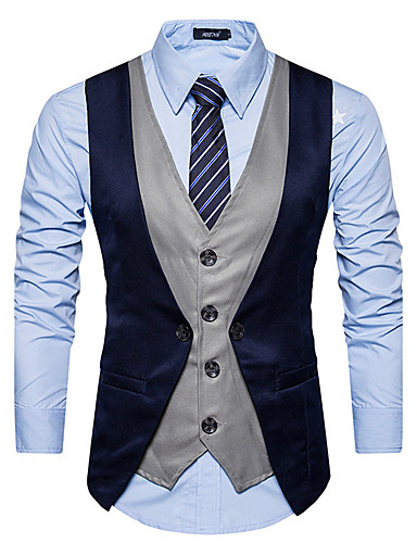 Men's Slim Vest - Color Block